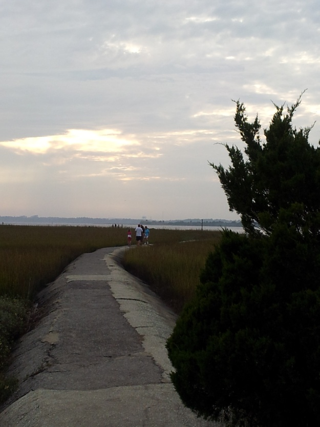 Walking at Fort Fisher